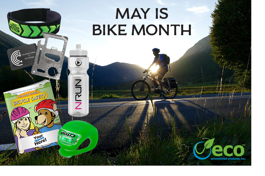 Promotional Products for National Bike Month 2017