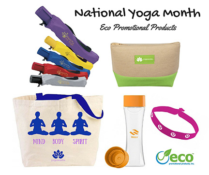 Yoga Promotional Products for National Yoga Month