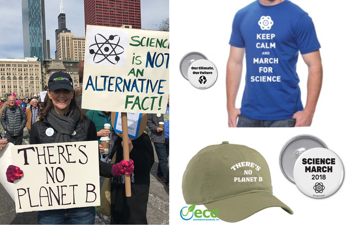 Promotional Products for 2018 Science Marches