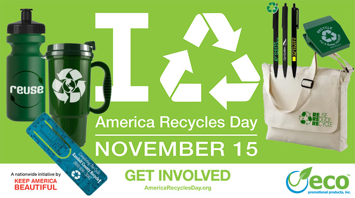 Top 10 Recycled Promotional Products for America Recycles Day