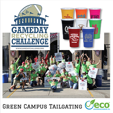 Green Your Campus Tailgate with Eco Friendly Products