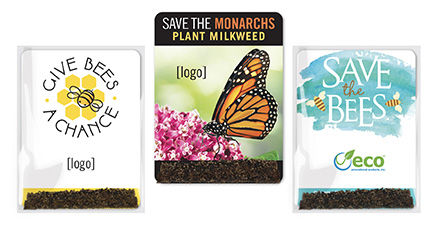 pollinator-friendly seed packets at your Earth Day events