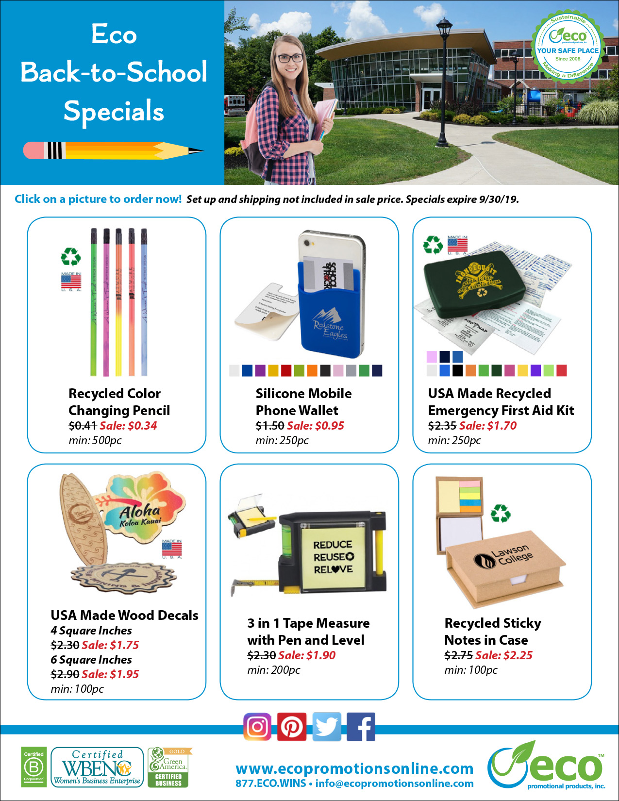 2019 Back to School Specials