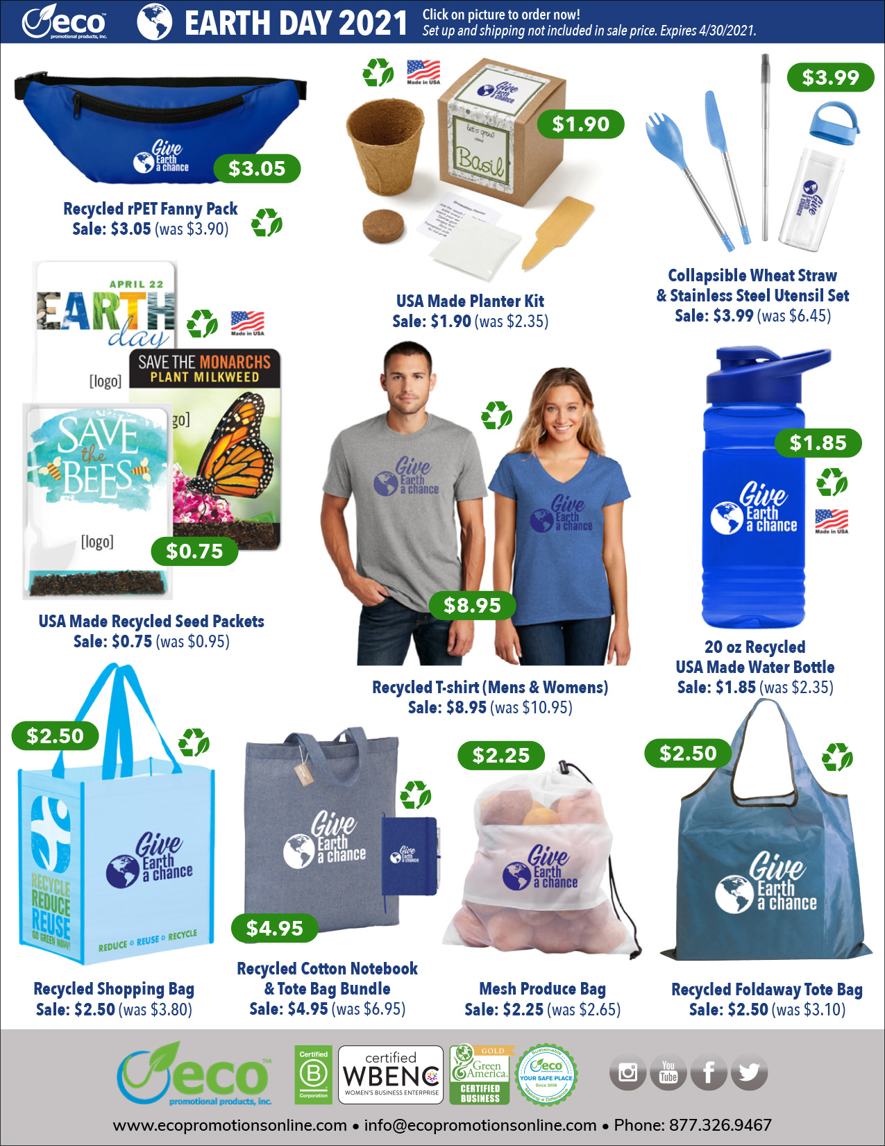 2021 Earth Day Specials | Eco Promotional Products ...