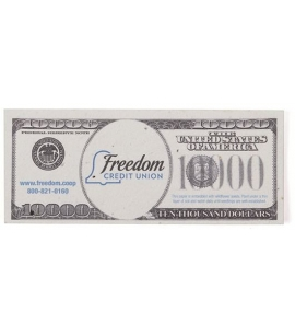 Recycled USA Made 10000 custom seeded money bill