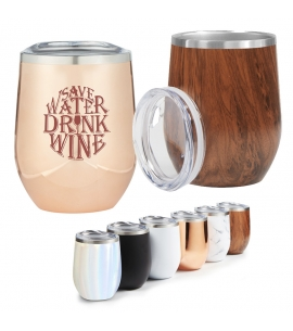 12 oz Wine Stainless Steel Copper Vacuum Insulated Tumbler