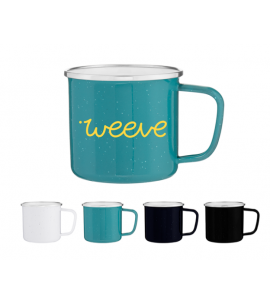 13 oz Glossy Single Wall Enamel Mug