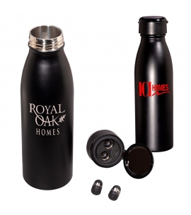 20 oz Stainless Steel Water Bottle with Wireless Earbuds