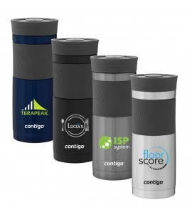 20 oz custom branded stainless contigo tumbler