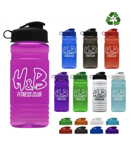 20 oz Recycled Flip Top Lid Water Bottles