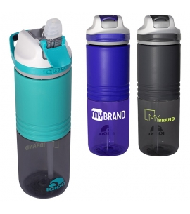 24 oz Swift Silicone Straw Water Bottle