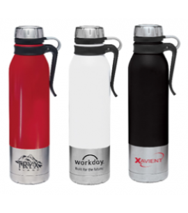 25 oz Reusable Clip-On Stainless Steel Vacuum Bottle