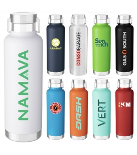 25 oz Stainless Steel Powder Coated Custom Water Bottle