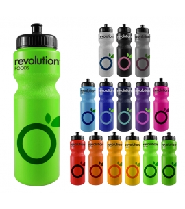 Bike Water Bottle | Push Pull Lid | USA Made | 28 oz