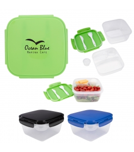3 Compartment Reusable Snap Close Waste Free Lunch Set Custom