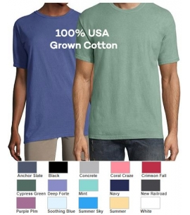 All colors garment dyed short sleeve unisex promo tshirt
