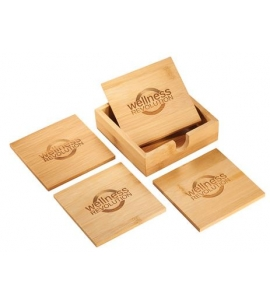 Bamboo Coaster Set Personalized Coaster Set Coaster Set Gifts