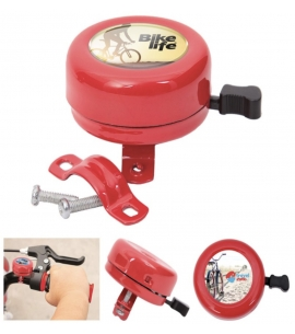 Bike Bell Red Full Color Imprint Promotional Product