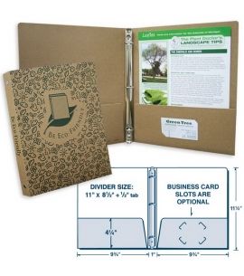 Kraft Chipboard 3-Ring Binder | USA Made | Recycled