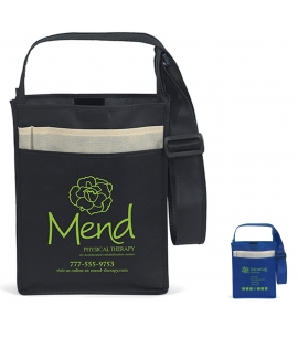 Recycled Messenger Tote 10x3x13