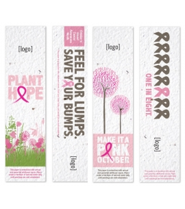 Breast Cancer Awareness Seeded Bookmarks