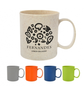 Custom Wheat Straw Coffee Mug Wheat Straw Promotional Products