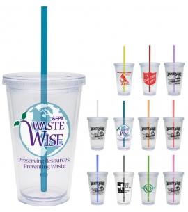 clear tumbler with straw classic carnival cup