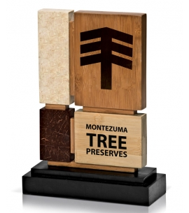Coco and Natural Bamboo with Coconut Shell Base Award