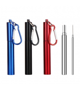 Collapsible Straw Set w/ Aluminum Case