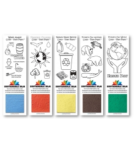 Color Then Plant Eco Bookmarks