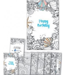 Custom Coloring Birthday Card Booklet | USA Made