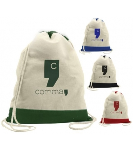 Cotton Drawstring Backpack Cotton Cinch Backpack