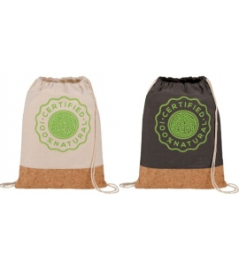 Cotton and Cork drawstring bag