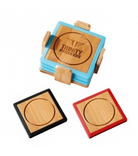 Custom Coasters | Bamboo Engraved | Eco Friendly Promotional Product