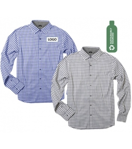 Custom Embroidered Recycled Gingham Dress Shirt