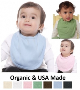Eco Organic Cotton Baby Bib - Custom