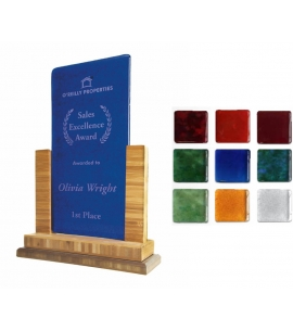 Recycled Glass Plaque Award