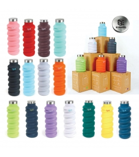 Custom Que Bottle | Collapsible Silicone | 20 oz