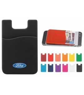 custom silicone cell phone wallet RFID protected