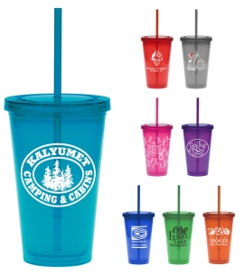 Custom Tumbler with Straw BPA Free Tumblers