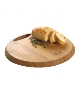 Custom Round Bamboo Cutting Board w/ Handle