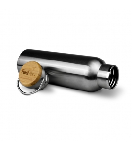 Double Wall Stainless Steel Bottle | Bamboo Lid Engraved