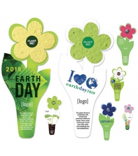 Earth Day Plantable Flower Bookmarks
