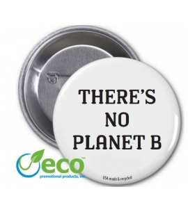 March for Science no planet b recycled USA made button