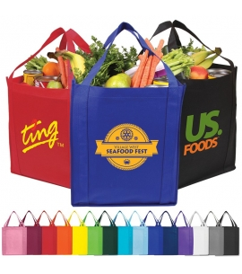 Economy reusable shopping grocery bags custom tote