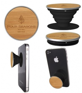Custom bamboo engraved Popsockets