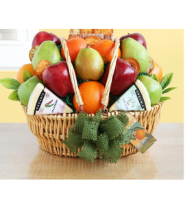 Fruit & Cheese Gift Basket | Organic