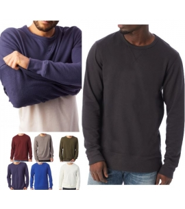favorite french terry reversible custom crew neck sweatshirt