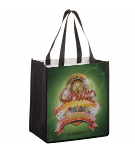 Full Color Non Woven PET Shopping Bag Eco Friendly Reusable Bag