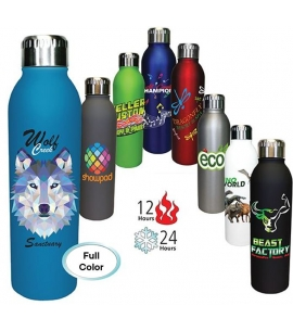 Full-Color Deluxe Stainless Steel Insulated Custom 17 oz bottle